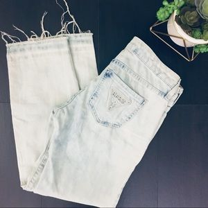 GUESS Vintage Bleached Raw Hemmed Jeans